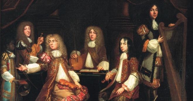 "Charles II's ""Private Musick"" by J.B. Medina, circa 1662."