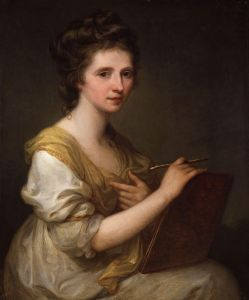 Angelica Kauffman, the Austrian-born portrait painter whose encouragement led David Ker to purchase the Tuscan Stradivari
