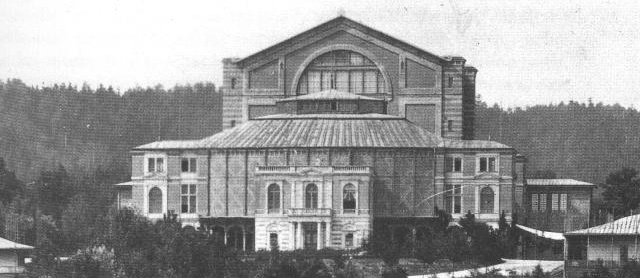 The Bayreuth Festspielhaus where Wilhelmj performed Der Ring des Nibelungen as concertmaster for it's first season in 1876