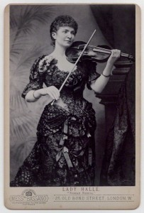 Wilhelmina Norman-Neruda, the female Paganini in 1885.