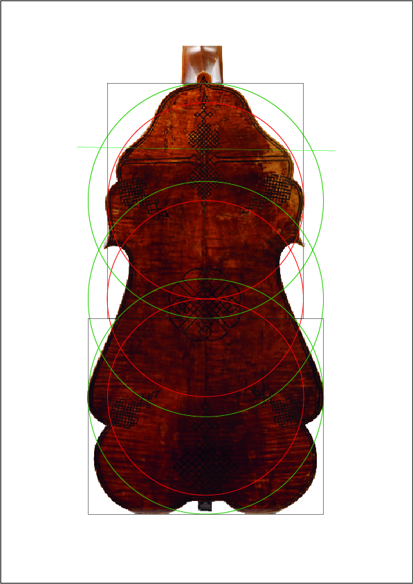 English viols by John Rose showing an elementary common core of geometry.