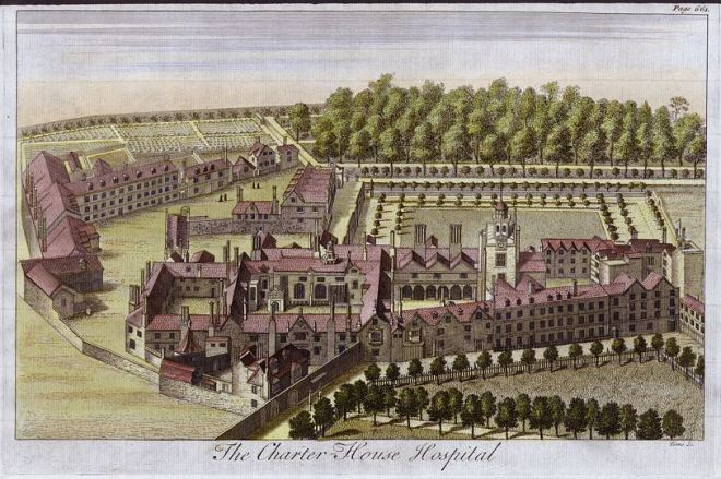 Charterhouse from an 18th century engraving.
