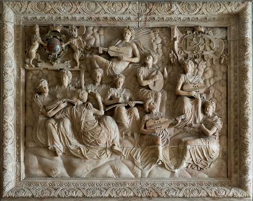 Alabaster overmantel, attrib. Robert Smythson, c.1570, Hardwick Hall