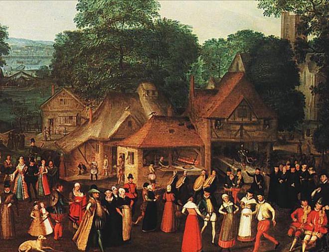 Joris Hoefnagel's Marriage at Bermondsey, dated 1569