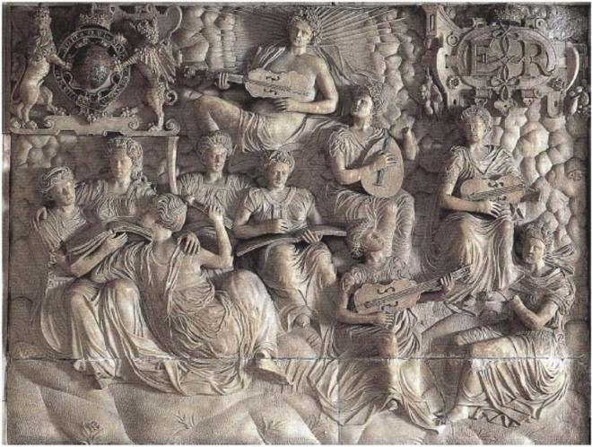 Alabaster overmantel from Hardwick Hall, circa 1560