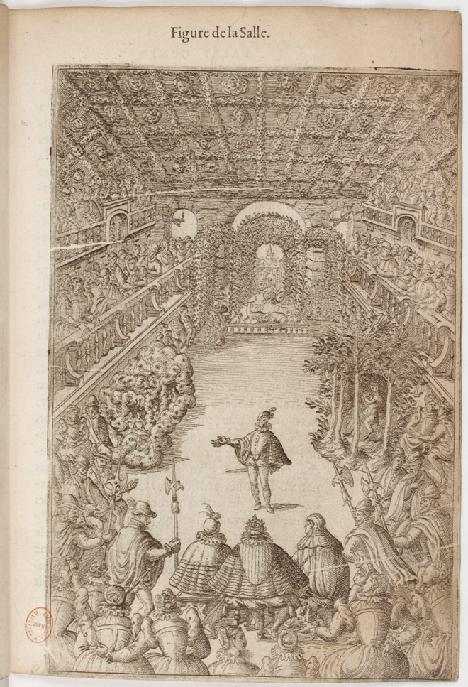 Figure de la Salle, from Balthasar de Beaujoyleaux Balet comique de la Royne, Paris 1581.